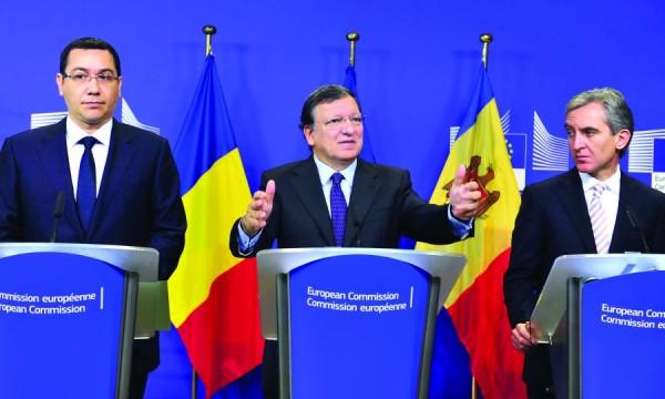 BELGIUM-BRUSSELS-EU-BARROSO-ROMANIA-MOLDOVA-PM-MEETING