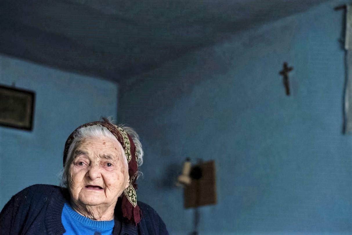 Rozalia Sardi, decana de vârstă a satului
