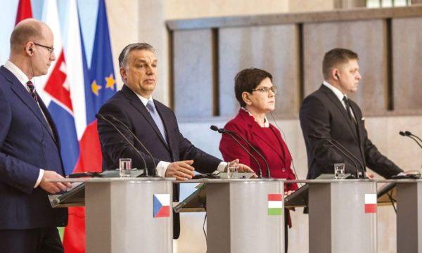 """""""Ungaria «susţine din toată inima» declaraţia Grupului de la Vişegrad privind viitorul Uniunii Europene, adoptată la o reuniune la nivel înalt a Republicii Cehe, Ungariei, Poloniei şi Slovaciei"""", a declarat premierul Viktor Orbán. Varşovia, 2 martie 2017"""