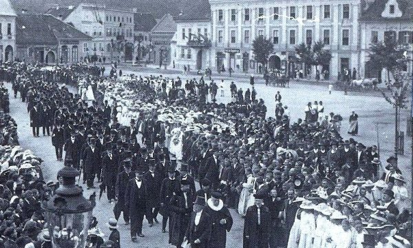 11. Adunarea generală a Asociaţiilor Săseşti la Mediaş, Vereinstagen, 1912. Arhiva Muzeului Medias