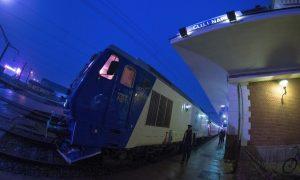"""La plecarea în prima cursă, trenul internațional """"Transilvania"""", Cluj-Viena"""