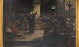 """Predicatorul David Francisc, în centrul tabloului """"Dieta de la Turda"""", expus la Muzeul de Istorie din Turda"""