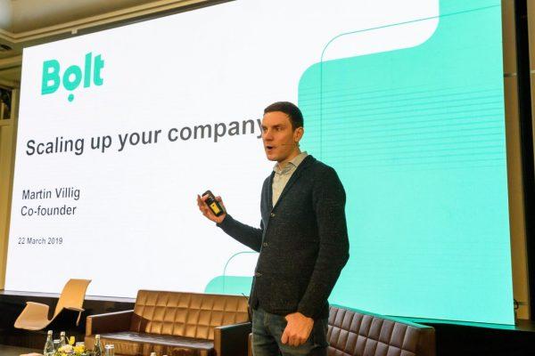Martin Villig, co-fondatorul Bolt, în timpul prezentării de la Startup Europe Summit Cluj 2019 | Foto: Primăria Cluj-Napoca