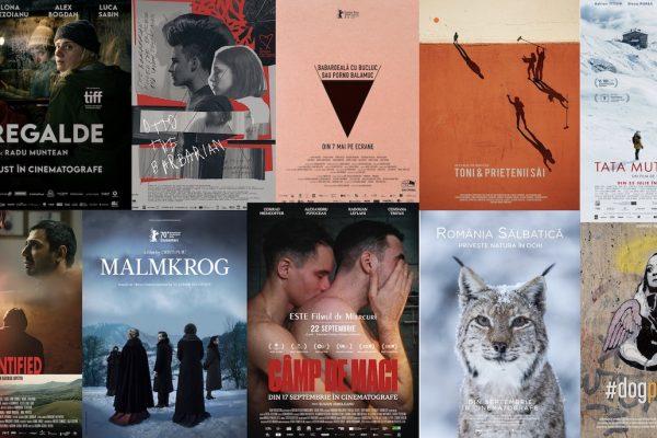 Afișele unor filme românești apărute în anul cinematografic 2021
